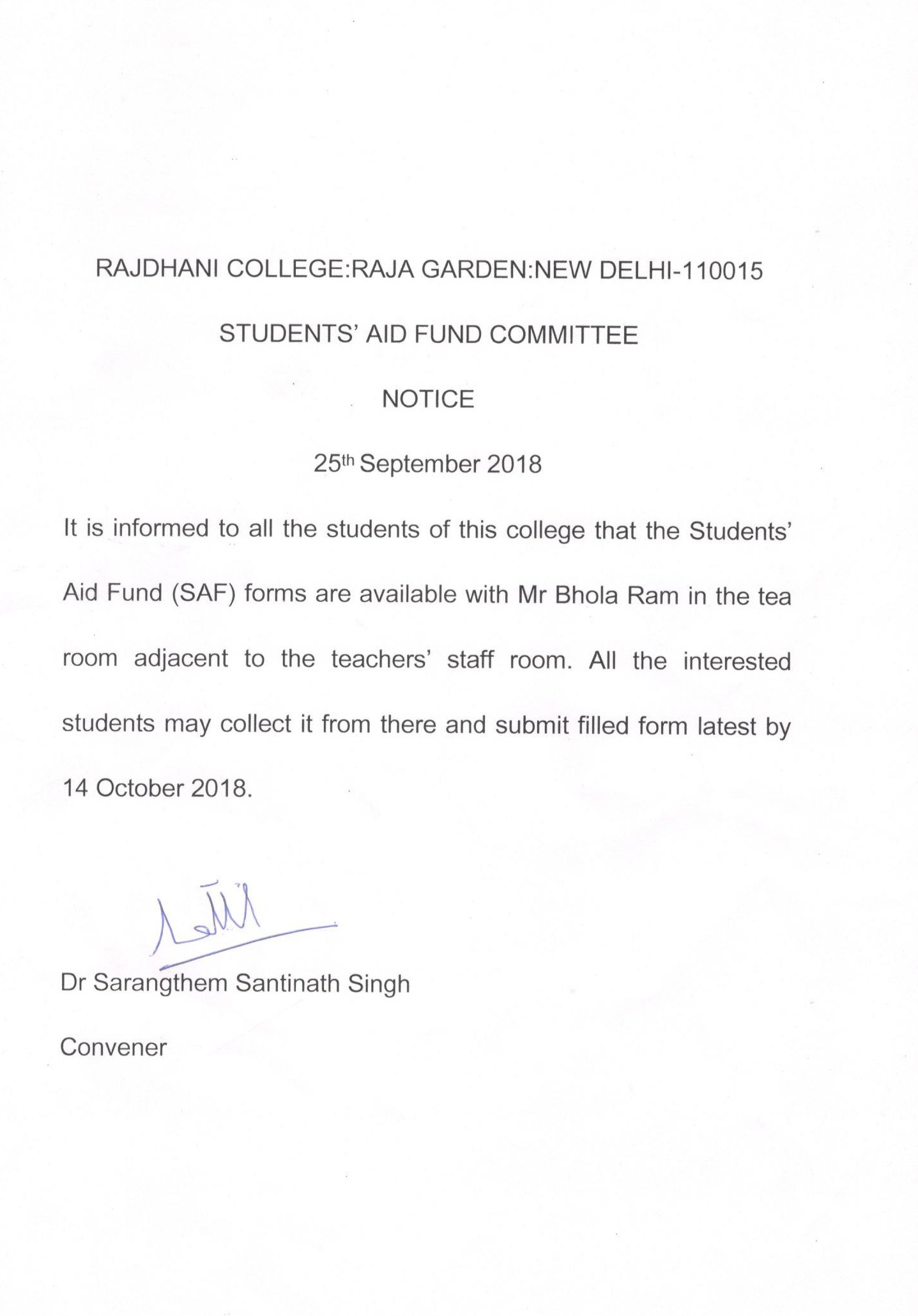 Welcome To The Offical Website Of Rajdhani College University Delhi